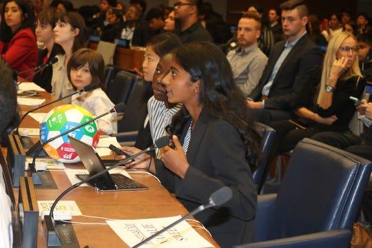 Janani Shivakumar spoke about her peace project