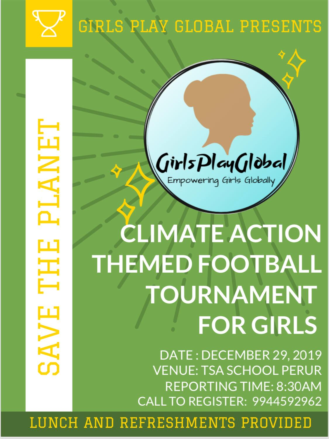 Climate Action Themed Football Tournament For Girls