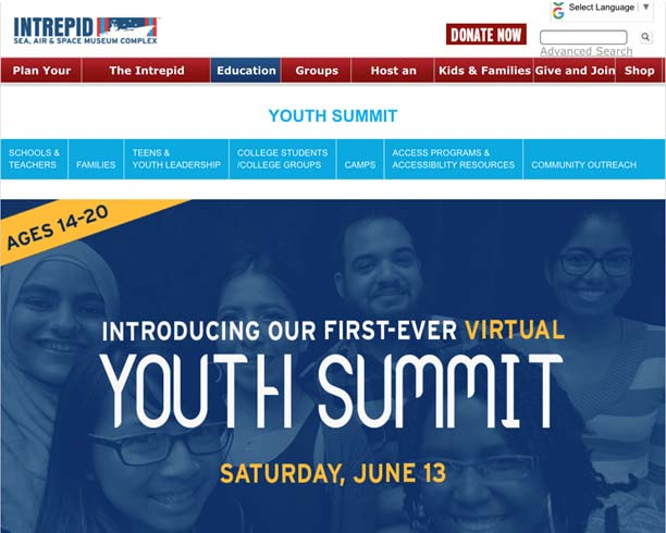 Girls Play Global proud to present at the Intrepid Museum's Youth Summit